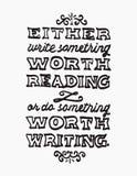 Witte van letters voorziende illustratie van Benjamin Franklins-citaat stock illustratie