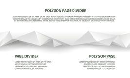 Witte veelhoekige naadloze verdeler voor website en landende pagina royalty-vrije illustratie
