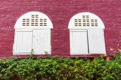 Witte vensters Royalty-vrije Stock Foto