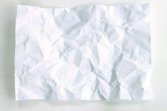 Witte verfrommelde document textuur Royalty-vrije Stock Foto
