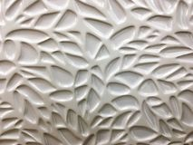 Witte Verglaasde Keramische tegel in een Geometrisch Patroon Royalty-vrije Stock Fotografie