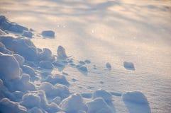 Witte verse sneeuwachtergrond Stock Fotografie