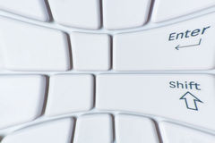Witte vervormde laptop toetsenbordclose-up Stock Foto's