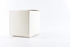 Witte vierkante doos royalty-vrije stock fotografie