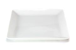 Witte vierkante plaat Stock Afbeeldingen