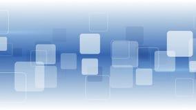 Witte vierkanten op blauw abstracte achtergrond Royalty-vrije Stock Foto's