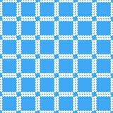 Witte vierkanten op blauw geometrisch patroon als achtergrond vector illustratie
