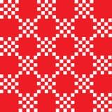 Witte vierkanten op rood geometrisch patroon als achtergrond vector illustratie