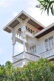 Witte villa Stock Foto