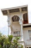 Witte villa Royalty-vrije Stock Afbeeldingen