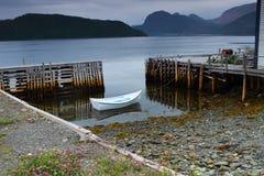 Witte vissersboot royalty-vrije stock foto