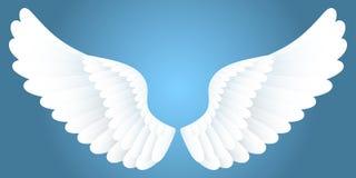 Witte vleugels. Royalty-vrije Stock Afbeeldingen