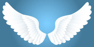 Witte vleugels. royalty-vrije illustratie