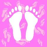 Witte voetafdrukken Royalty-vrije Stock Afbeeldingen