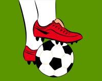 Witte voetbalbal Stock Fotografie