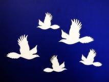Witte vogels Document knipsel Stock Foto's