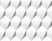 Witte volumetrische abstracte (naadloze) textuur. Stock Foto