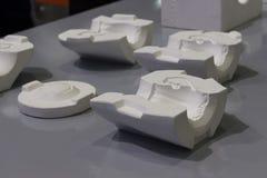 Witte vorm voor ceramisch misstap het gieten productieproces Royalty-vrije Stock Afbeeldingen