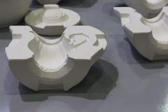 Witte vorm voor ceramisch misstap het gieten productieproces Stock Afbeelding