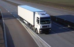 Witte vrachtwagen. Royalty-vrije Stock Foto's