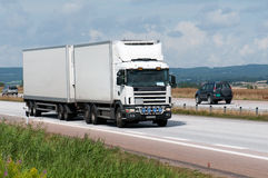 Witte vrachtwagen. Stock Fotografie