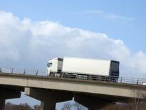 Witte Vrachtwagen Royalty-vrije Stock Foto's