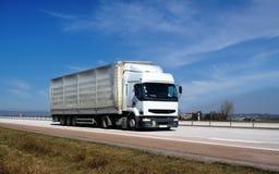 Witte vrachtwagen Stock Foto's