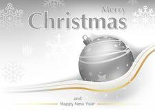 Witte Vrolijke Kerstmisgroet vector illustratie