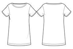 Witte vrouwen` s T-shirt Stock Foto