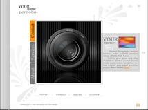 Witte website, portefeuillefotograaf met een lens Royalty-vrije Stock Foto