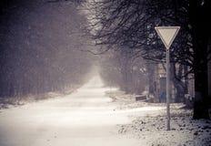 Witte weg Stock Foto