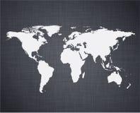 Witte wereldkaart. Stock Foto