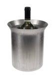 Witte wijn met koeler Stock Afbeeldingen