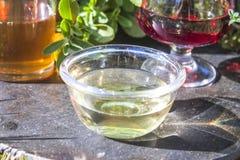 Witte wijnazijn Stock Afbeeldingen