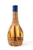 Witte wijnfles Stock Foto