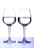 Witte wijnglazen Royalty-vrije Stock Foto's