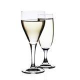 Witte wijnglazen Stock Fotografie