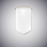 Witte wimpel op witte achtergrond Royalty-vrije Stock Afbeeldingen