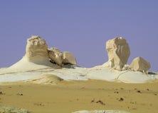 Witte woestijn in Egypte (1) Royalty-vrije Stock Afbeeldingen
