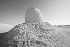 Witte woestijn in Egypte stock afbeelding