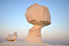 Witte woestijn in Egypte Stock Foto's