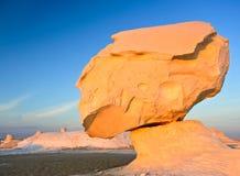 Witte woestijn in Egypte Stock Afbeeldingen