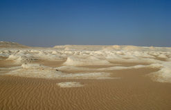 Witte woestijn in Egypte, dichtbij Farafra Stock Afbeelding