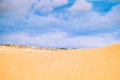 Witte Woestijn in Mui Ne Stock Afbeeldingen