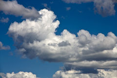 Witte wolk Stock Foto's