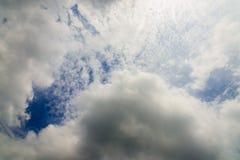 Witte wolk Royalty-vrije Stock Afbeeldingen