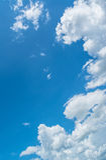Witte wolk en blauwe hemel royalty-vrije stock foto
