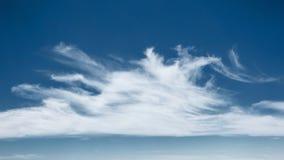Witte wolk en blauwe hemel Stock Foto