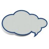 Witte wolk gevormde stof Royalty-vrije Stock Afbeelding