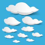Witte wolken stock illustratie
